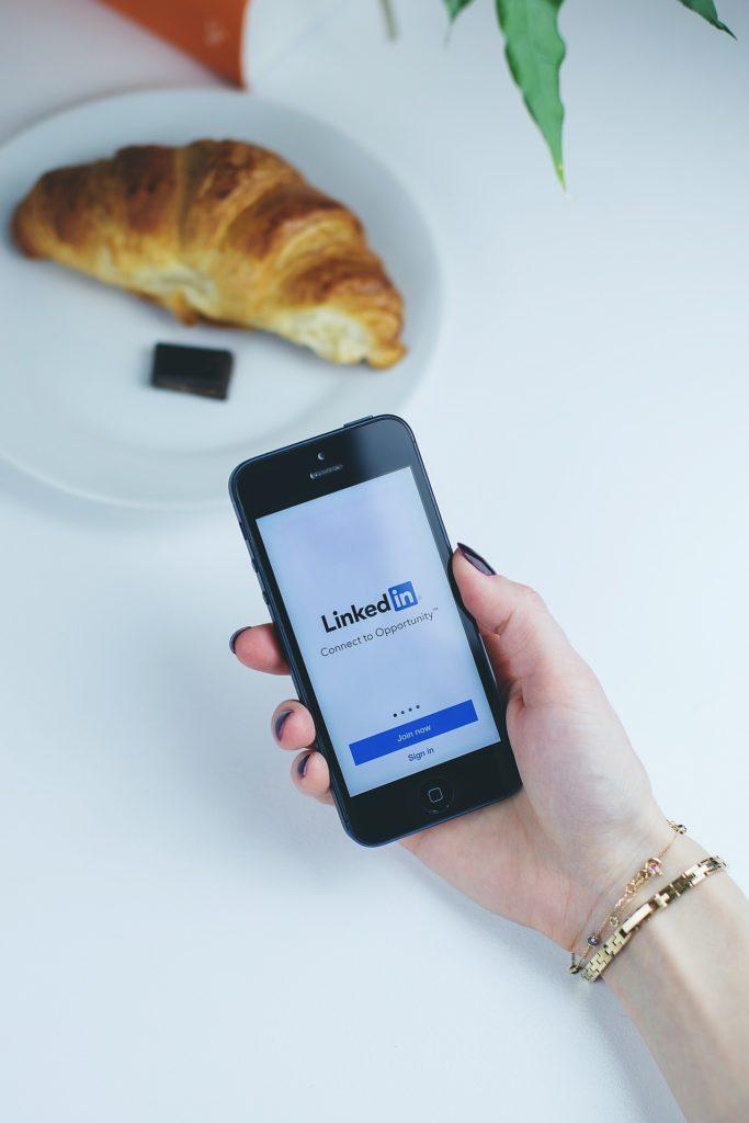 LinkedIn app on a smartphone