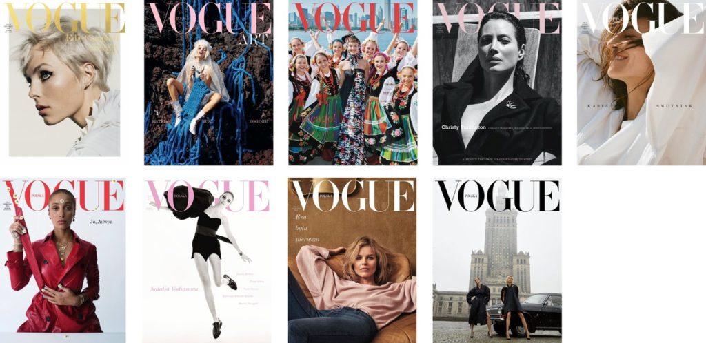 Vogue Poland covers 2018