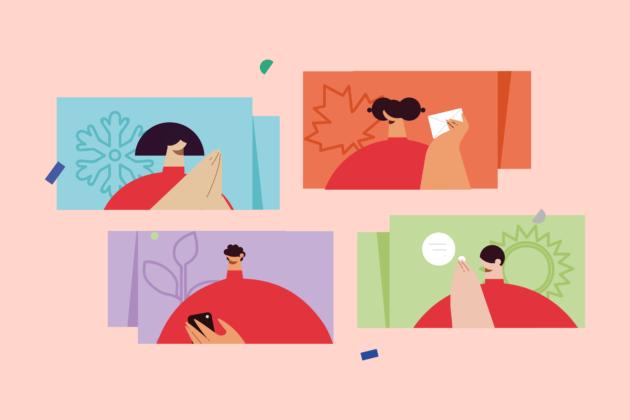 Four seasons in social media