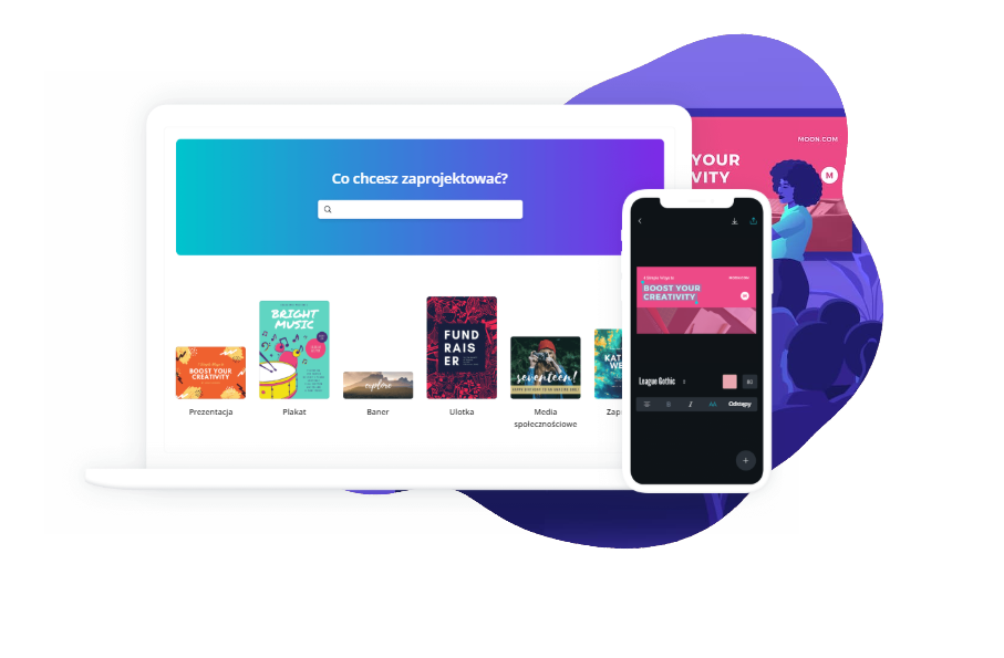 canva dashboard seen o different devices