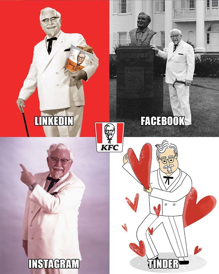 KFC collage