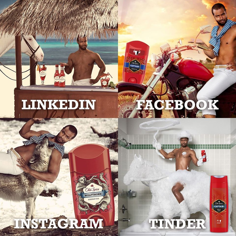 Old spice collage