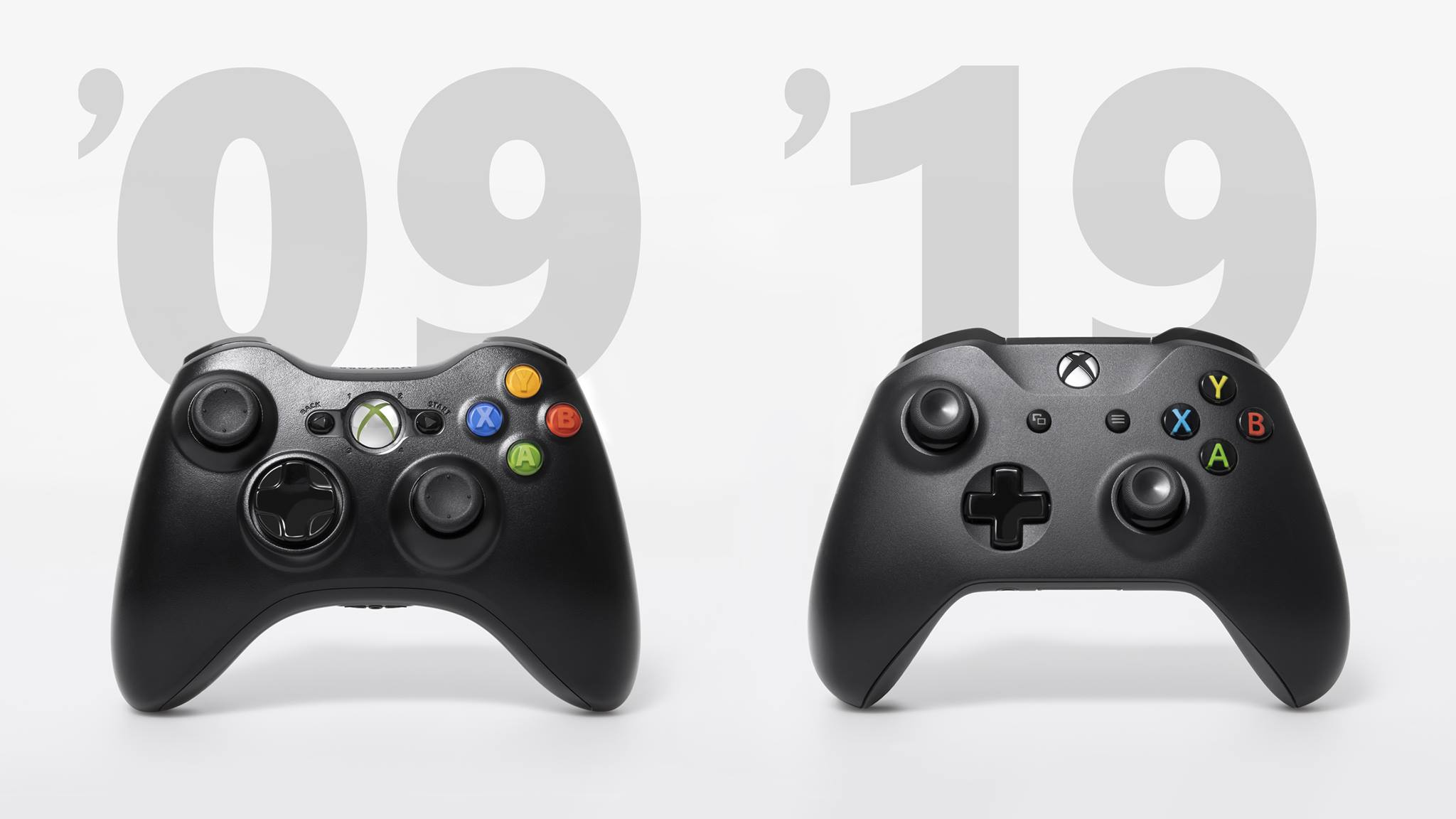 xbox pads 2009 and 2019